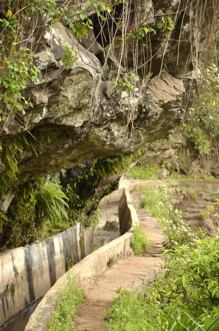Wanderung an einer Levada entlang