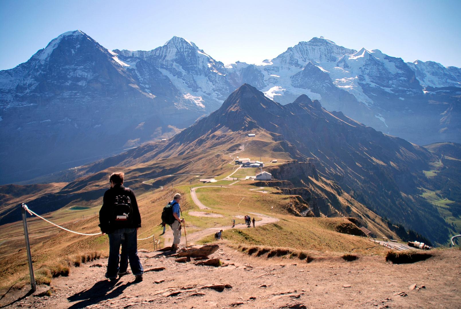Wanderung vom Männlichen -> Kleine Scheidegg (Schweiz)