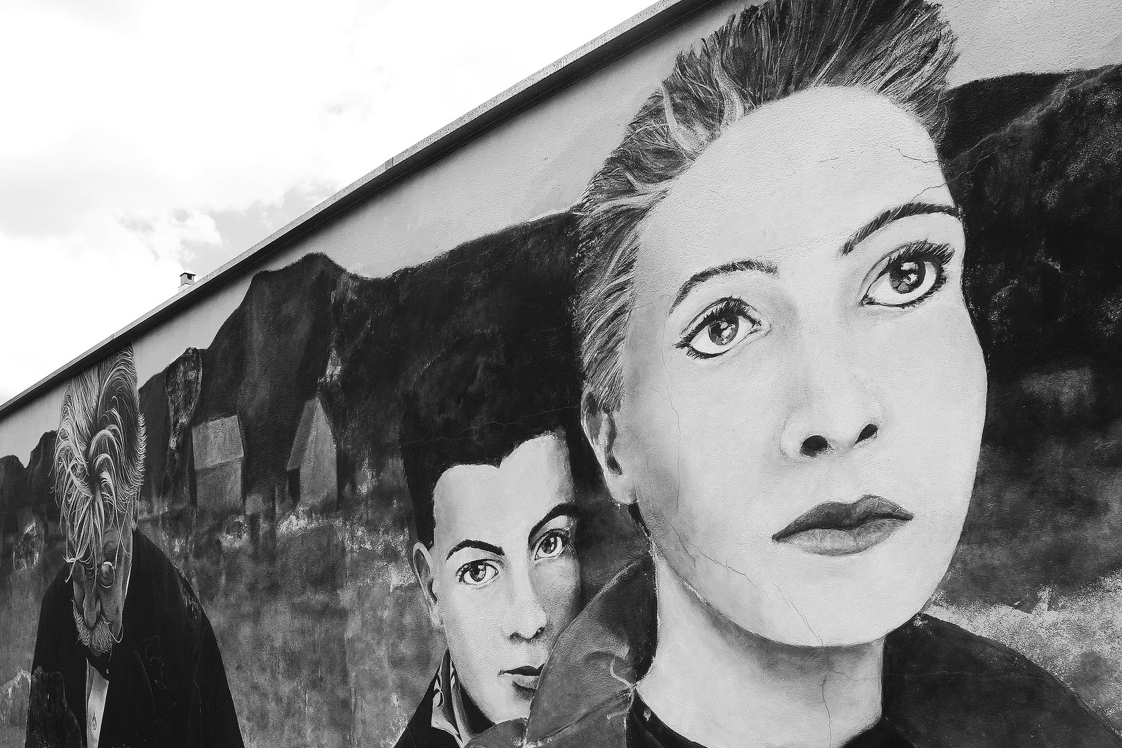 Wandgemälde am Bahnhof