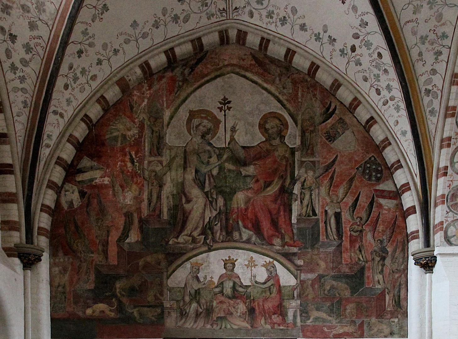 Wandgemälde in der Heilig-Geist- Hospitalkirche in Lübeck