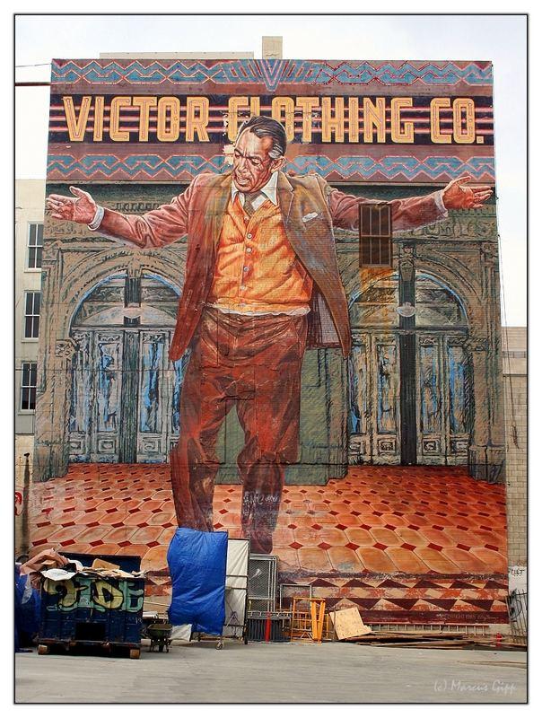 Wandgemälde in Downtown LA