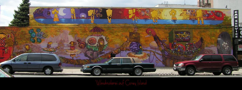 Wandmalerei auf Coney Island