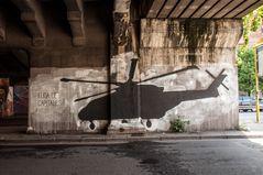 Wandmalerei Flucht