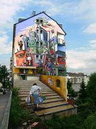 Wandmalerei im Stadtteil Flingern