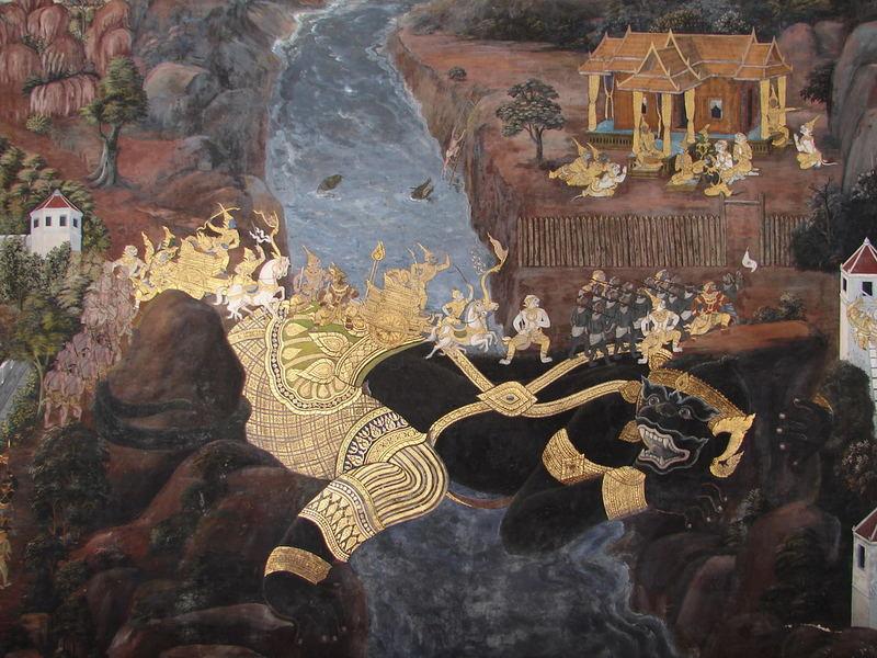 Wandmalerei im Wat Phra Kheo