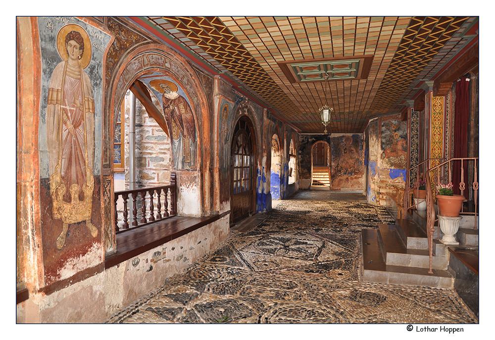 Wandmalereien im Kloster Dochiariou
