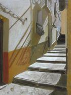 wandschatten und treppe, acryl a/ leinw.