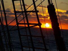 Wanten im Sonnenuntergang