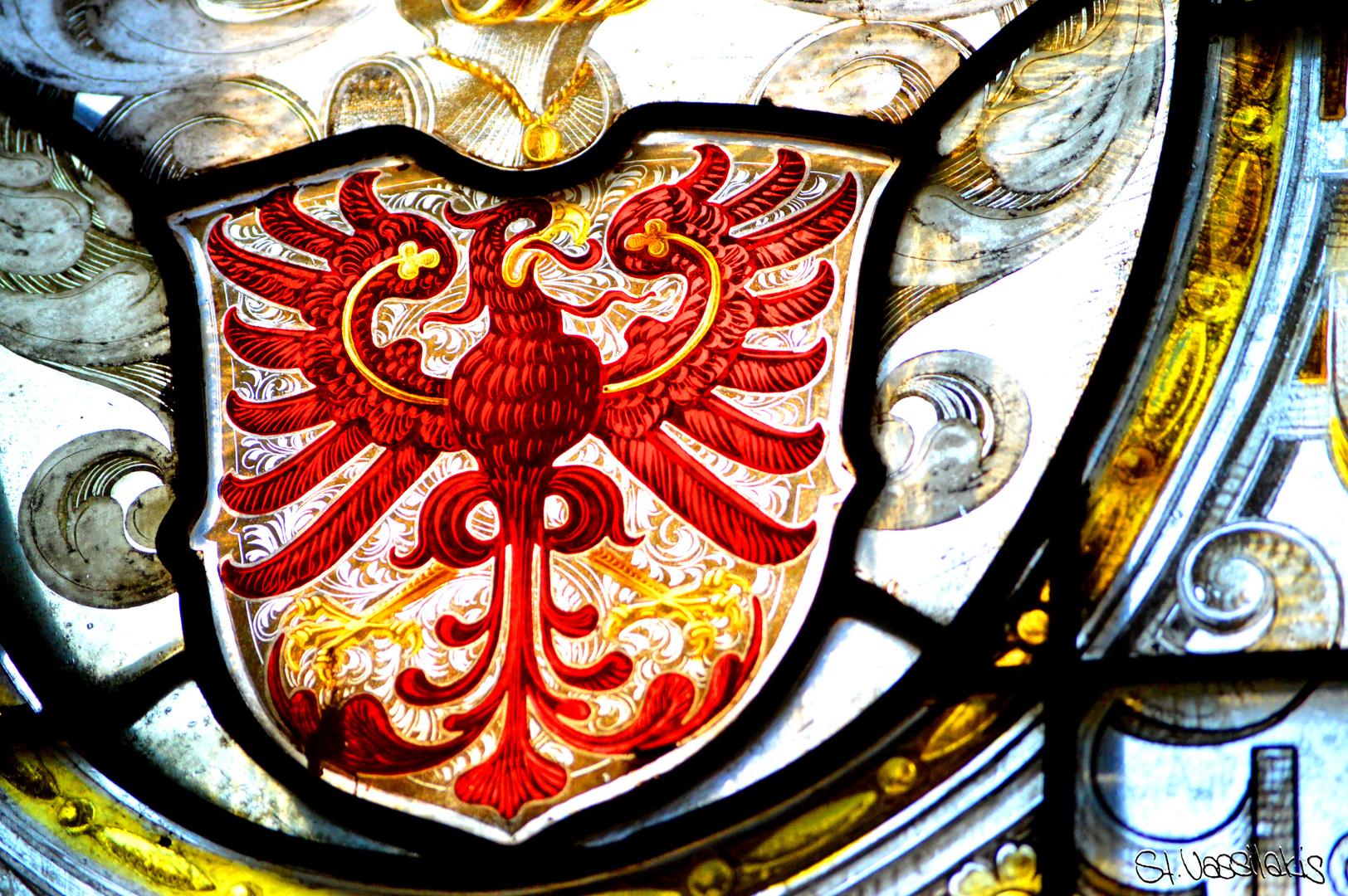 Wappen im Fenster