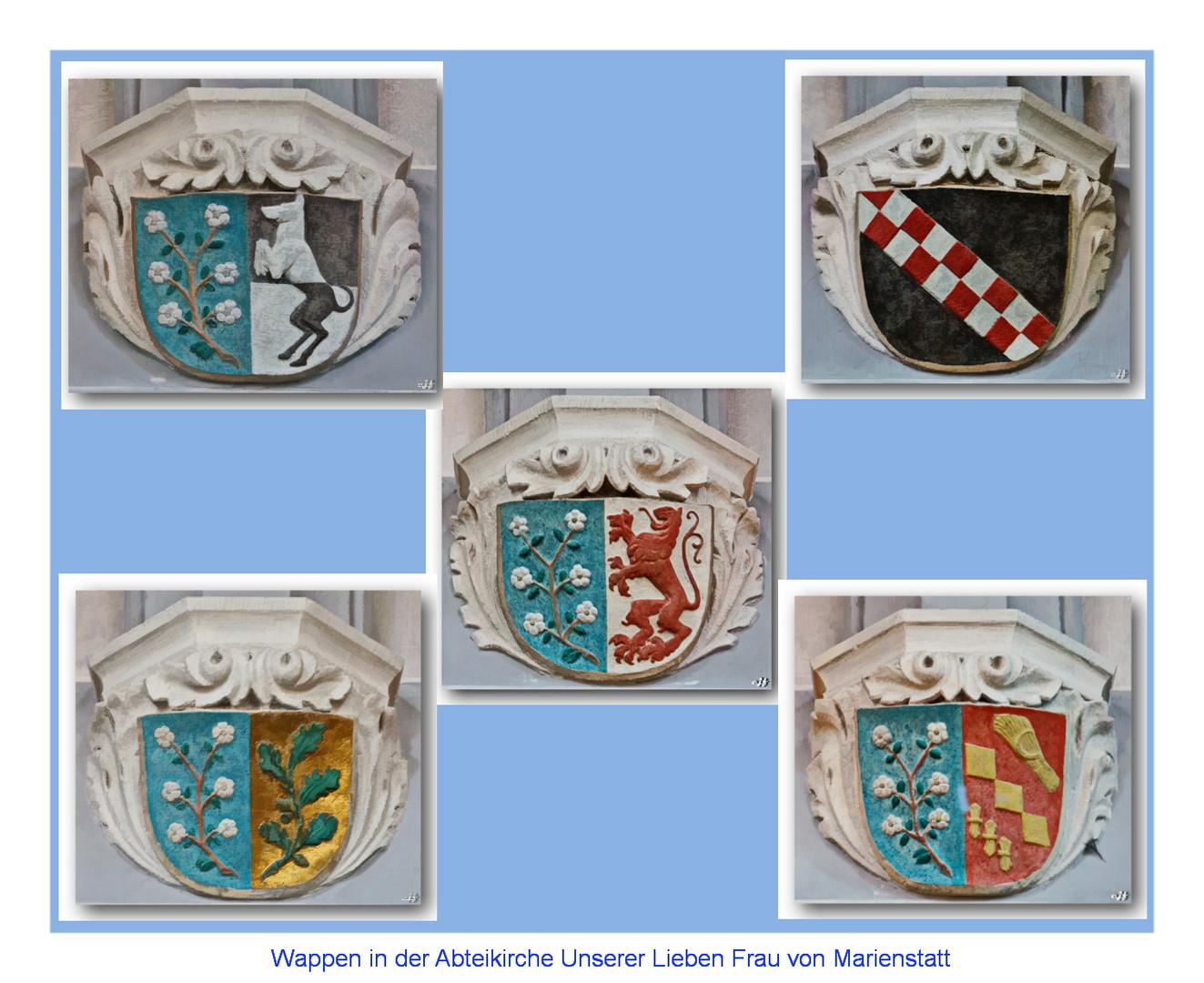 Wappen in der Abteikirche Marienstatt