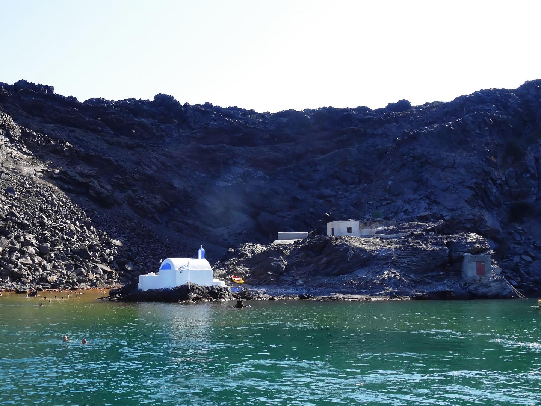 ...warme Quellen vor...auf Palea Kameni