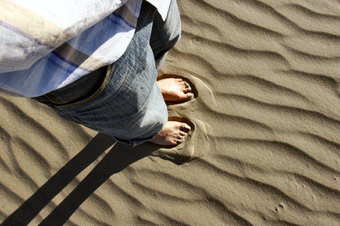 ... warmer sand