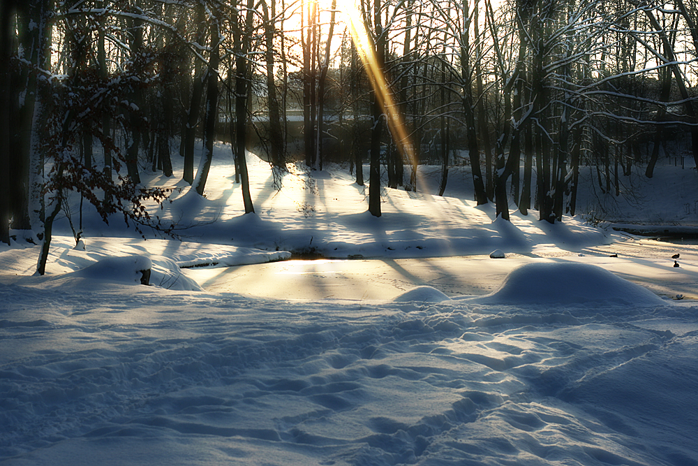 warmer Schnee