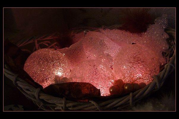 Warmes Licht in Rosa