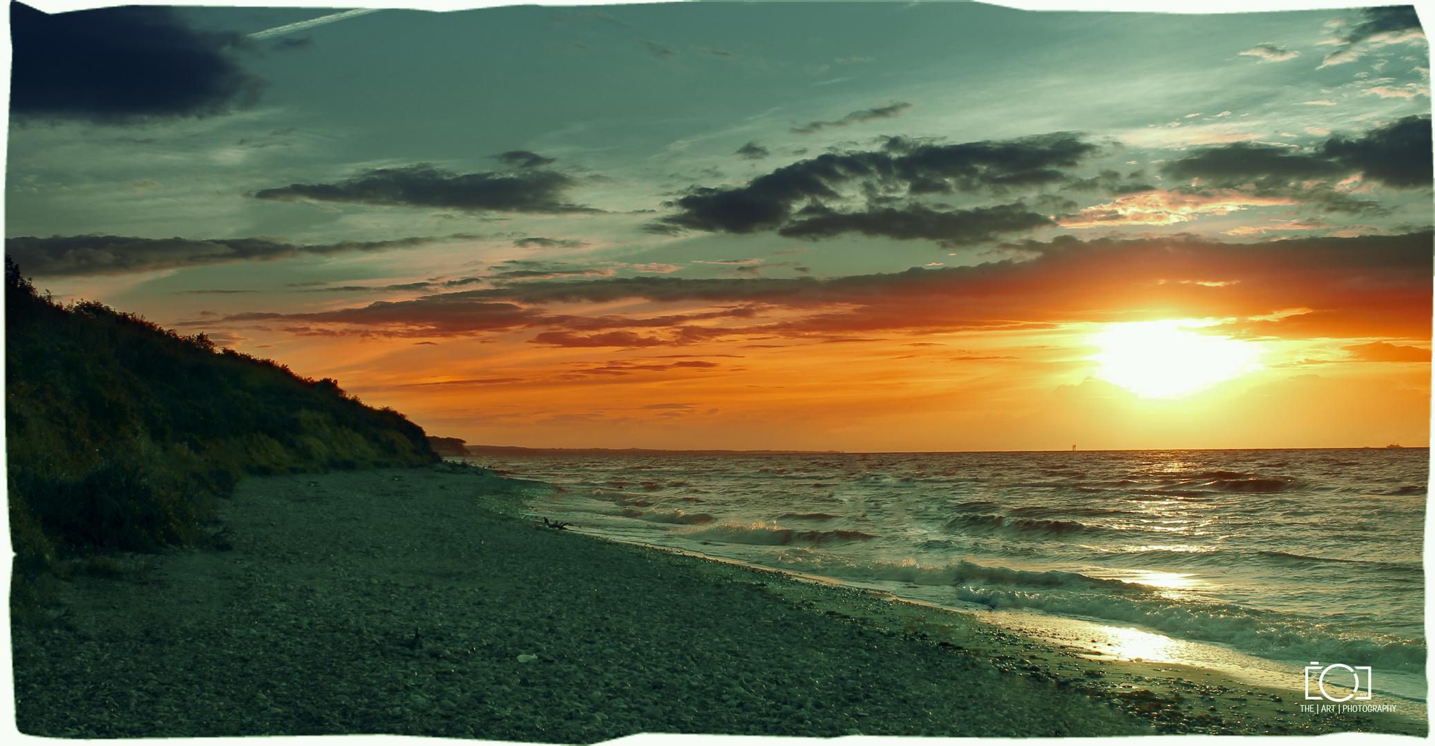 Warnemünde Sonnenuntergang