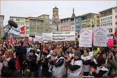 Warnstreik öffentlicher Dienst Stuttgart VERDI Maerz.2014