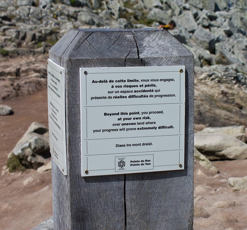 Warnungen in der Bretagne