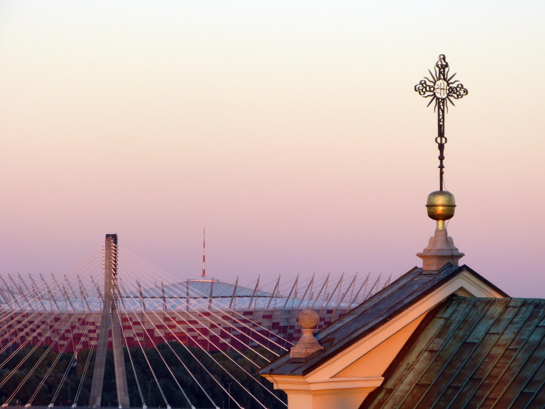 Warschau im Abendlicht