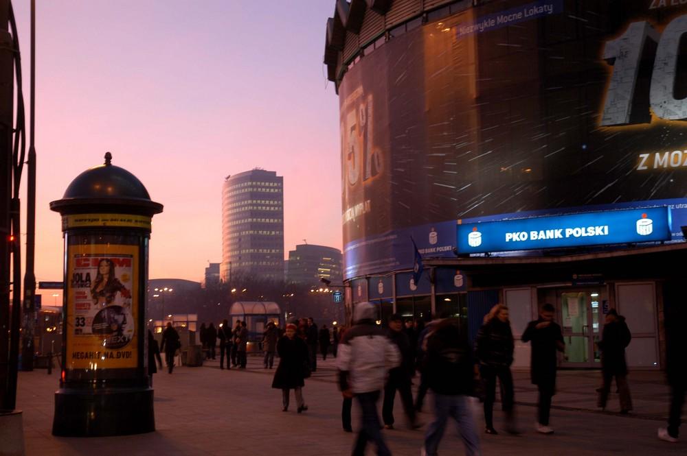 Warszawa am Abend