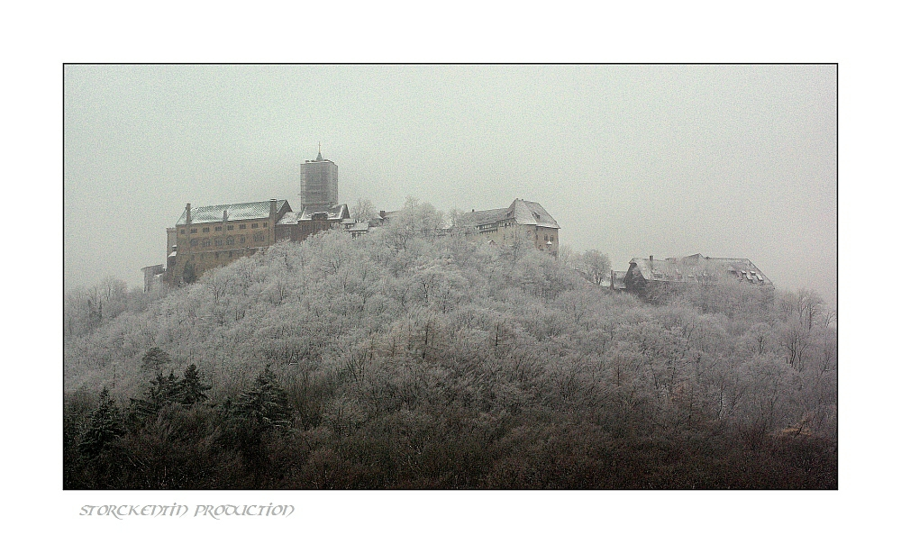 Wartburg im Schneesturm