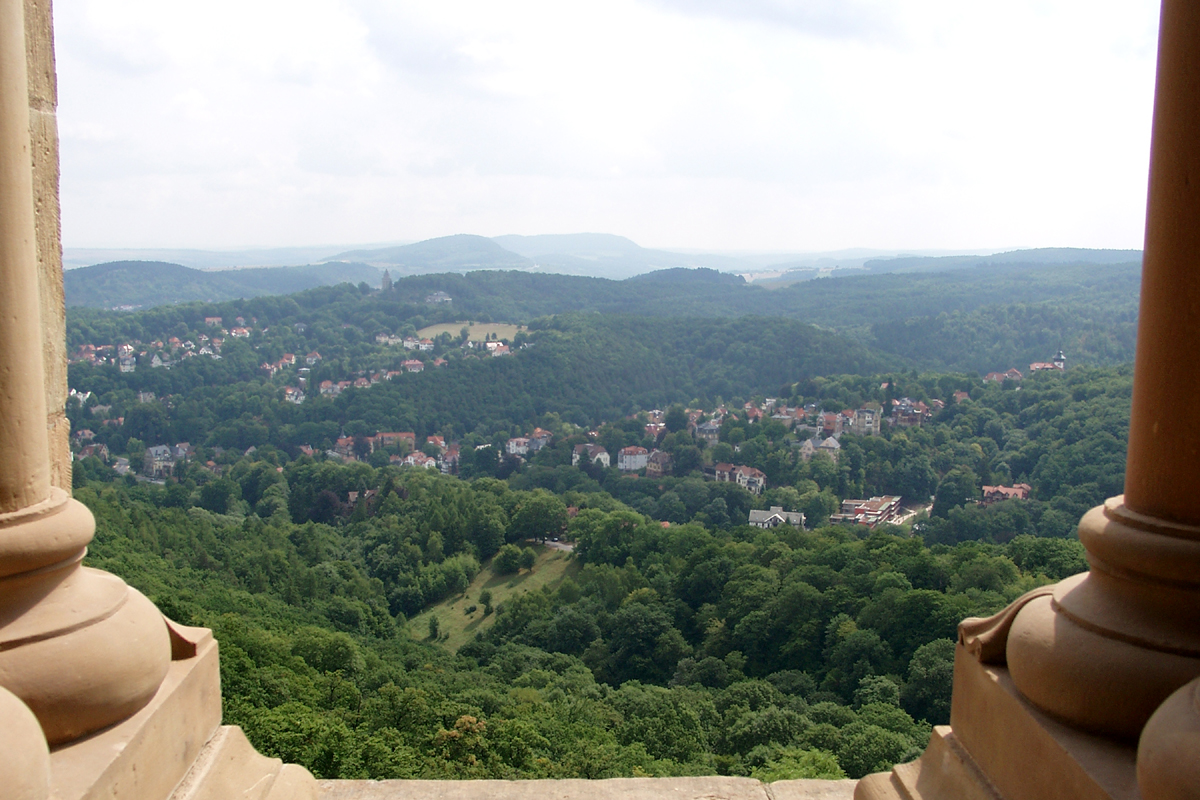 Wartburgblick auf Eisenach