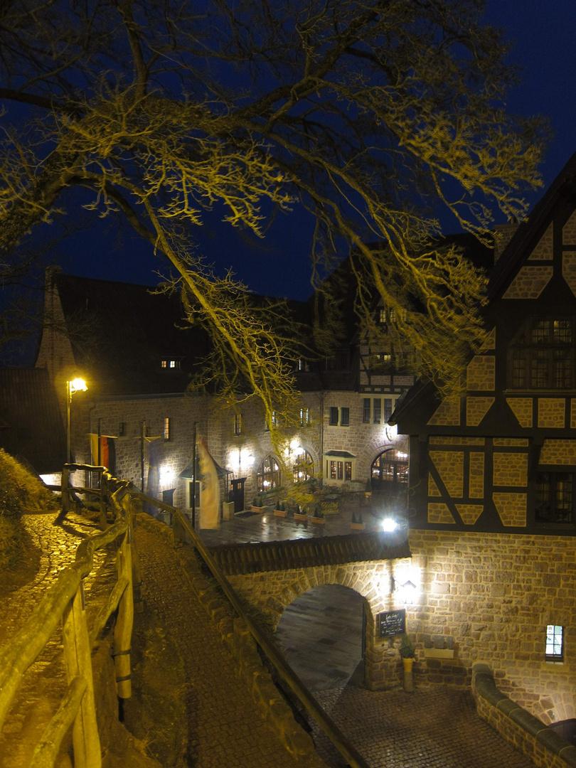 Wartburghotel bei Nacht