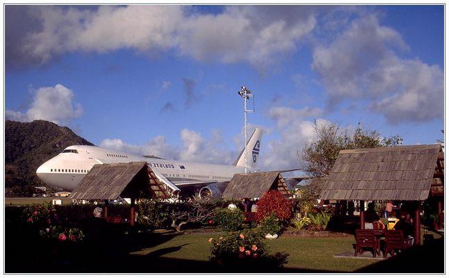 Wartehalle - Flughafen Rarotonga (Cook Inseln)