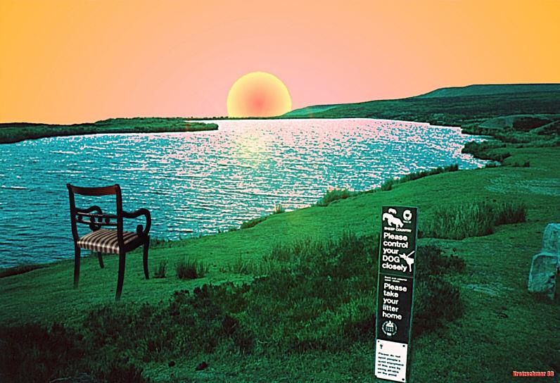 Warten auf das Ungeheuer Nessie am Loch Ness...