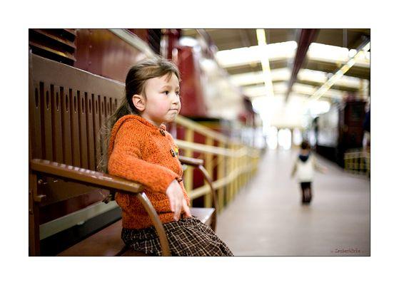 Warten auf den Lokführer... En attendant le conducteur de train...