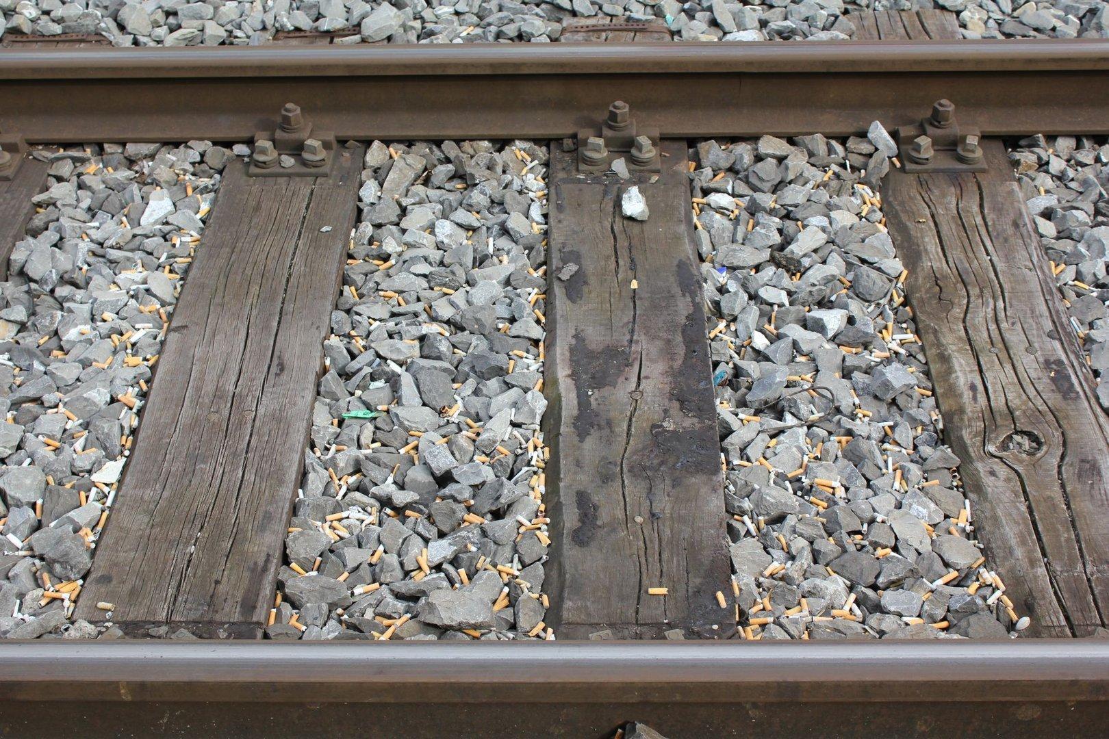 Warten auf den Zug