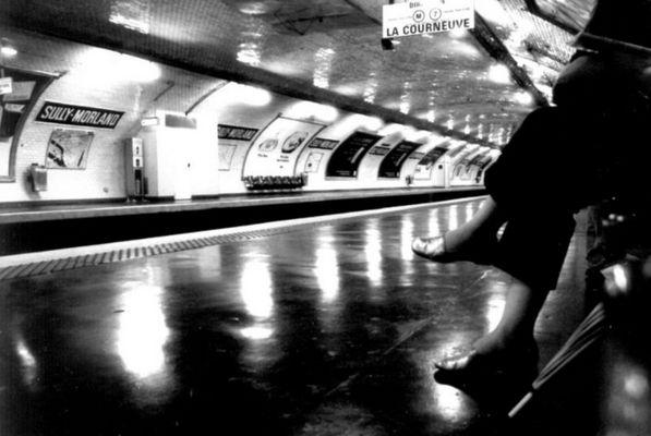 Warten auf die Metro