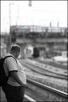 Warten auf die S-Bahn