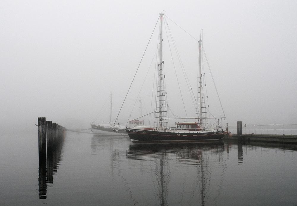 Warten im Nebel