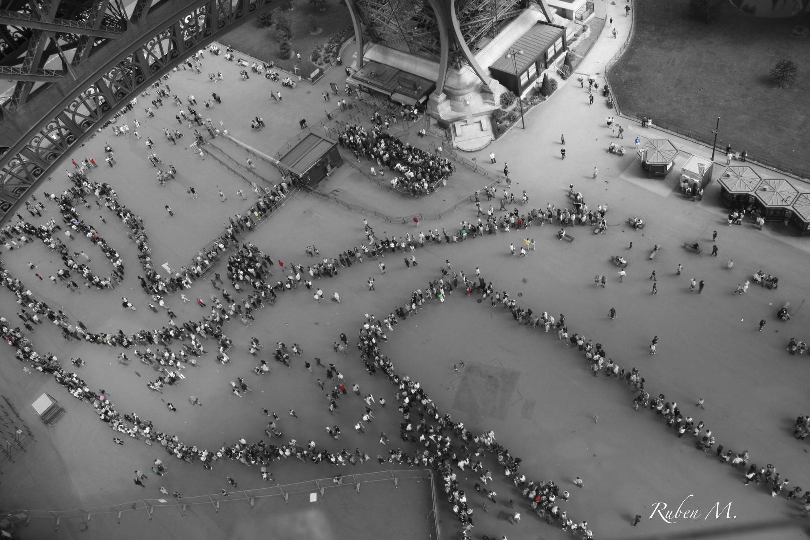 Warteschlange Eiffelturm