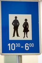 was will uns dieses Schild sagen?