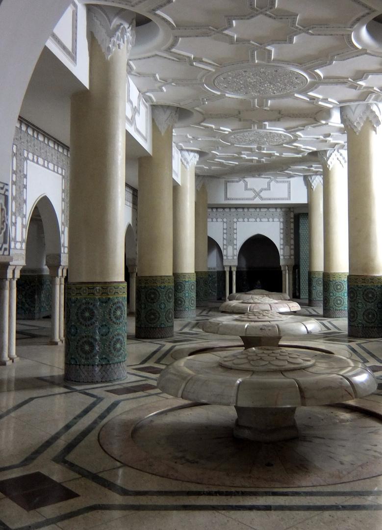 Waschanlage Moschee Hassan II. Casablanca