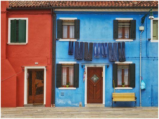 Waschtag für Blaue Wäsche