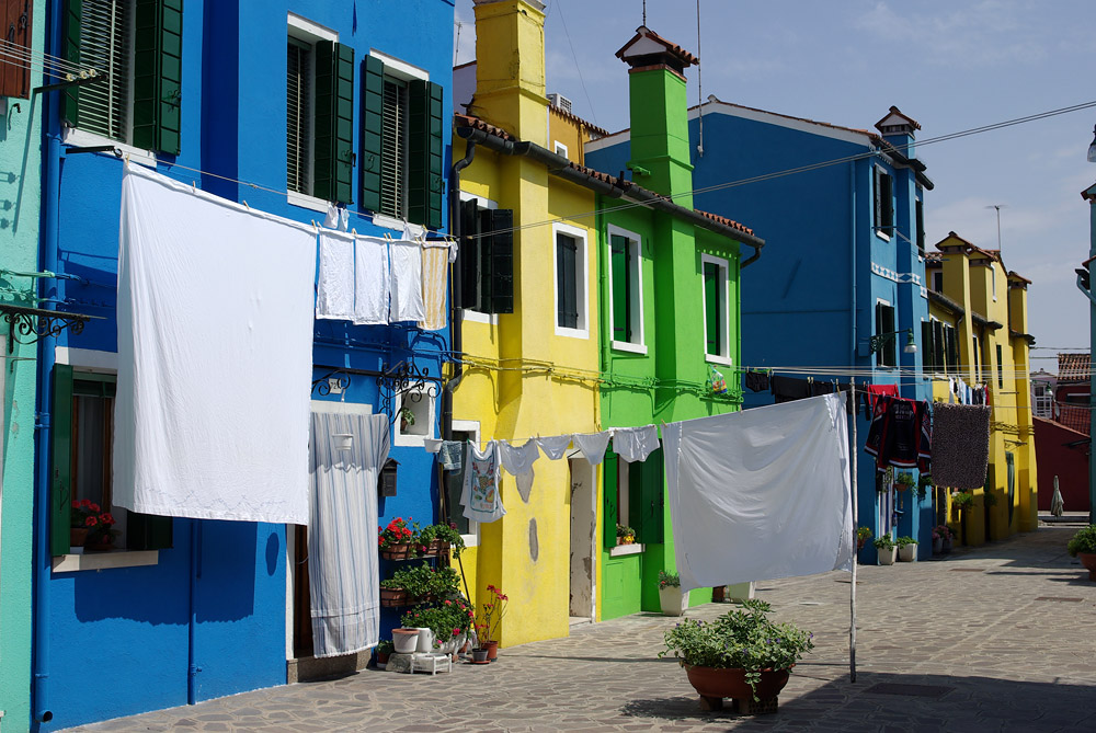 Waschtag in Burano...