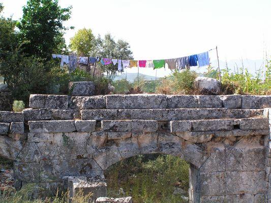 Waschtag in den Ruinen von Tlos...