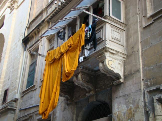 Waschtag in Valletta / Malta