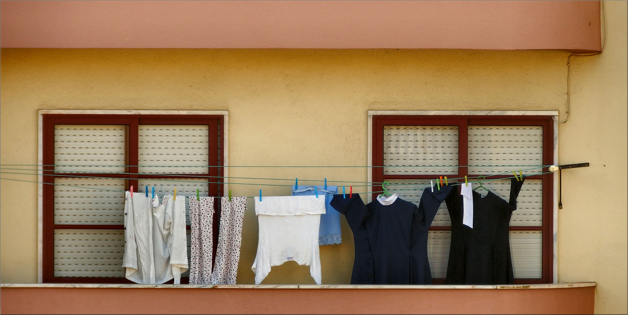 Washing day in the  nuns`s home.