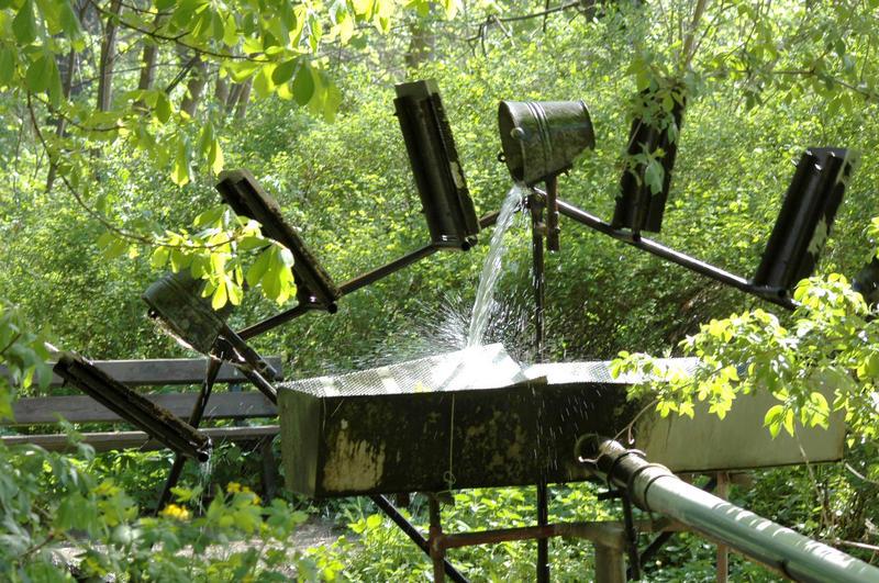 Wasser-Schöpf-Eimer-Rad