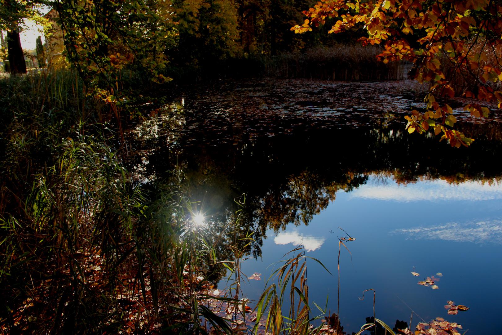 Wasser , Sonne und Herbst