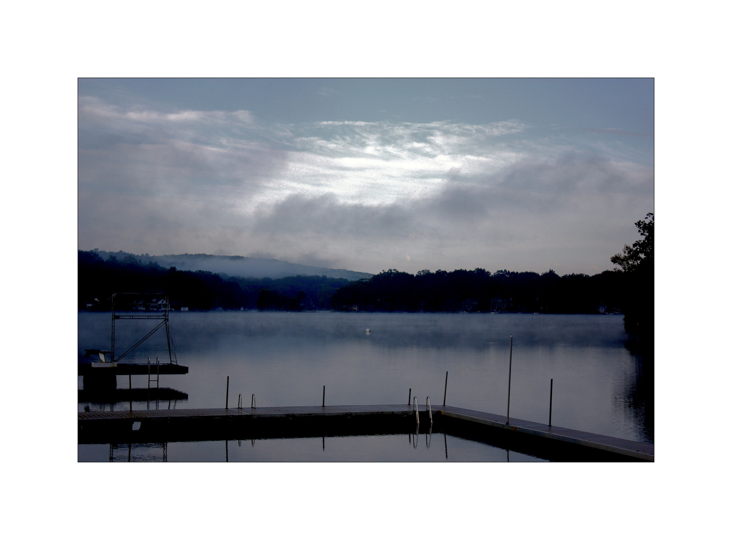 Wasser und Nebel,
