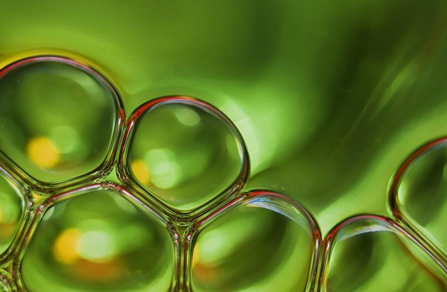 Wasserblasen-Impression