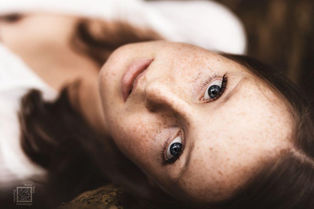 Wasserblaue Augen