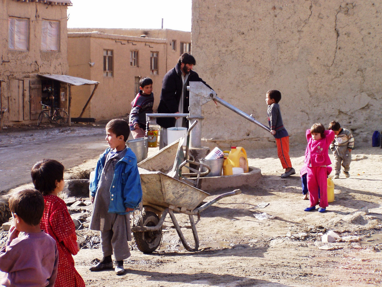 Wasserentnahmestelle in Kabul