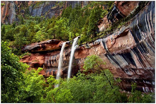 Wasserfälle an den Emerald Pools - Zion N.P. - Utah - USA