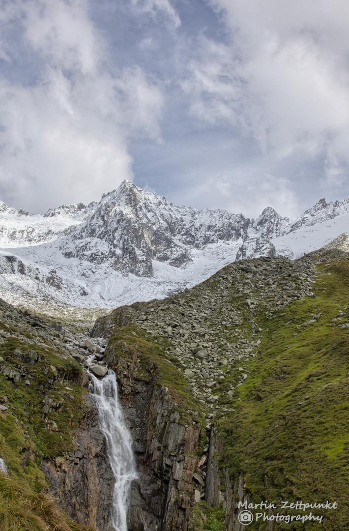 Wasserfall am Futrschagelhaus im Zillertal