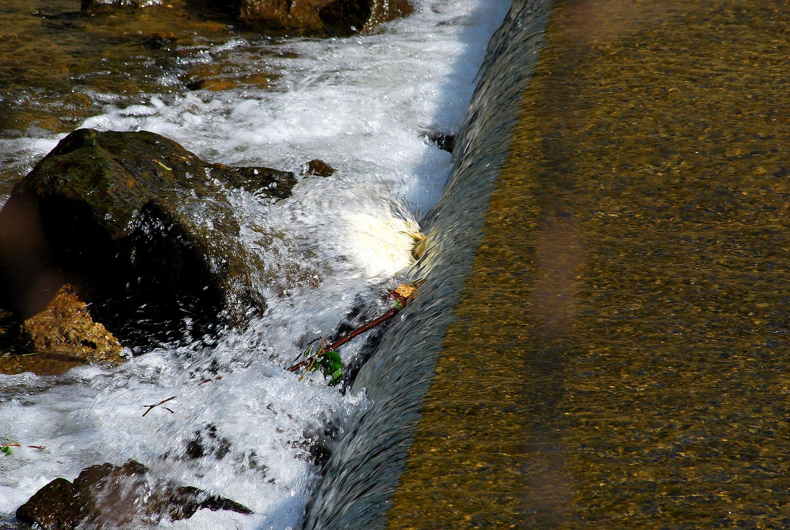 Wasserfall an der Weichsel
